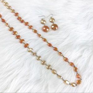 [Kenneth Cole] Orange Ombré Beaded Necklace Set